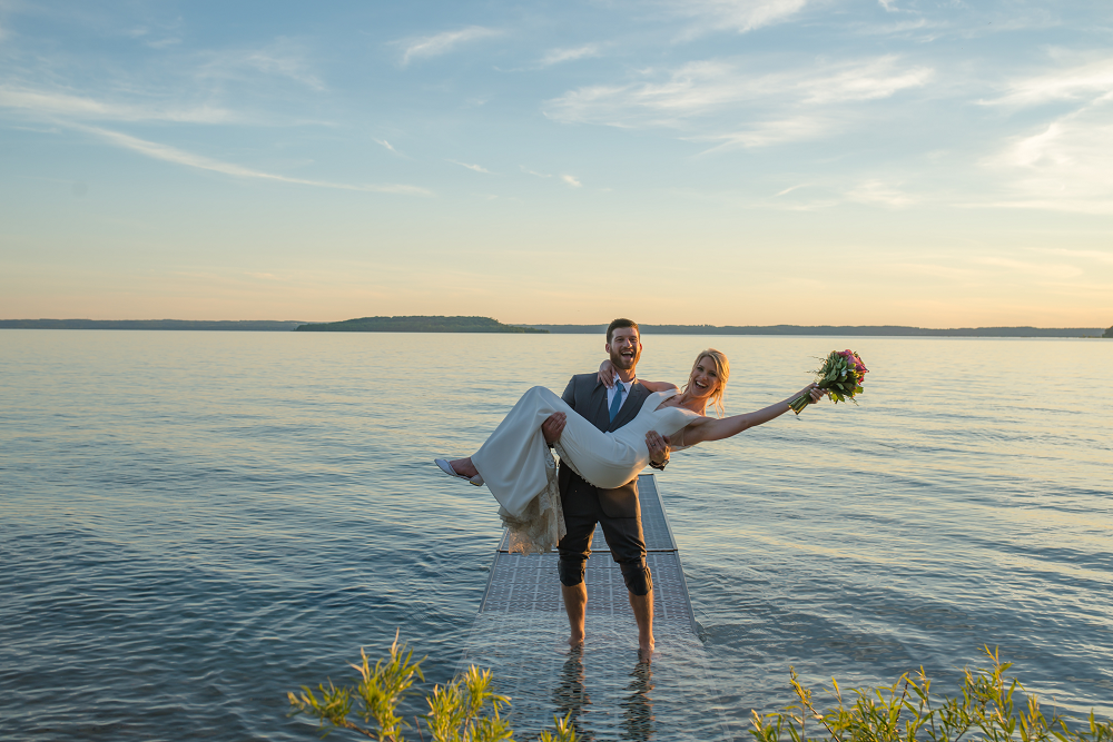 DESTINATION WEDDING IN TRAVERSE CITY WITH KRISTEN AND SCOTT Bride and Groom Portrait
