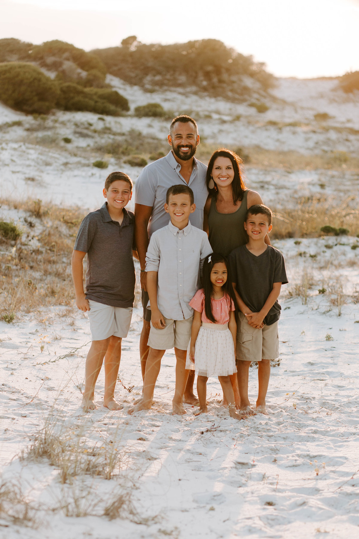 Family at beach photo session in Seaside Florida