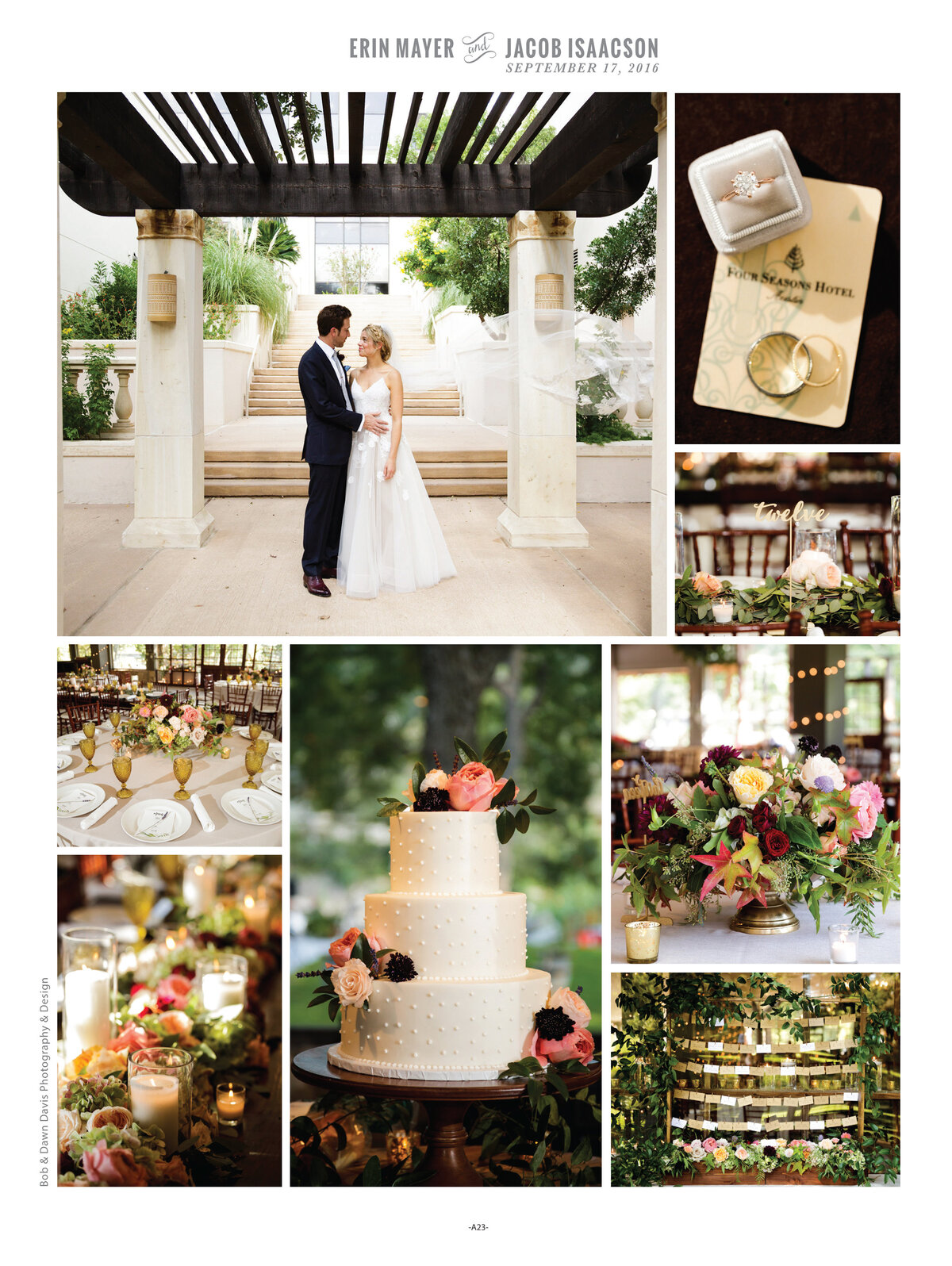 We absolutely love destination weddings and this one is no exception.  We are thrilled to see our couple, Erin and Jacob's wedding in the Spring/Summer 2017 edition of Brides of Austin magazine! It was a sweltering hot day in Austin and they were as cool as can be!  Thank you to Marcy Glink of Great Events who introduced us and planned this beautiful wedding. Click here for a list of vendors.