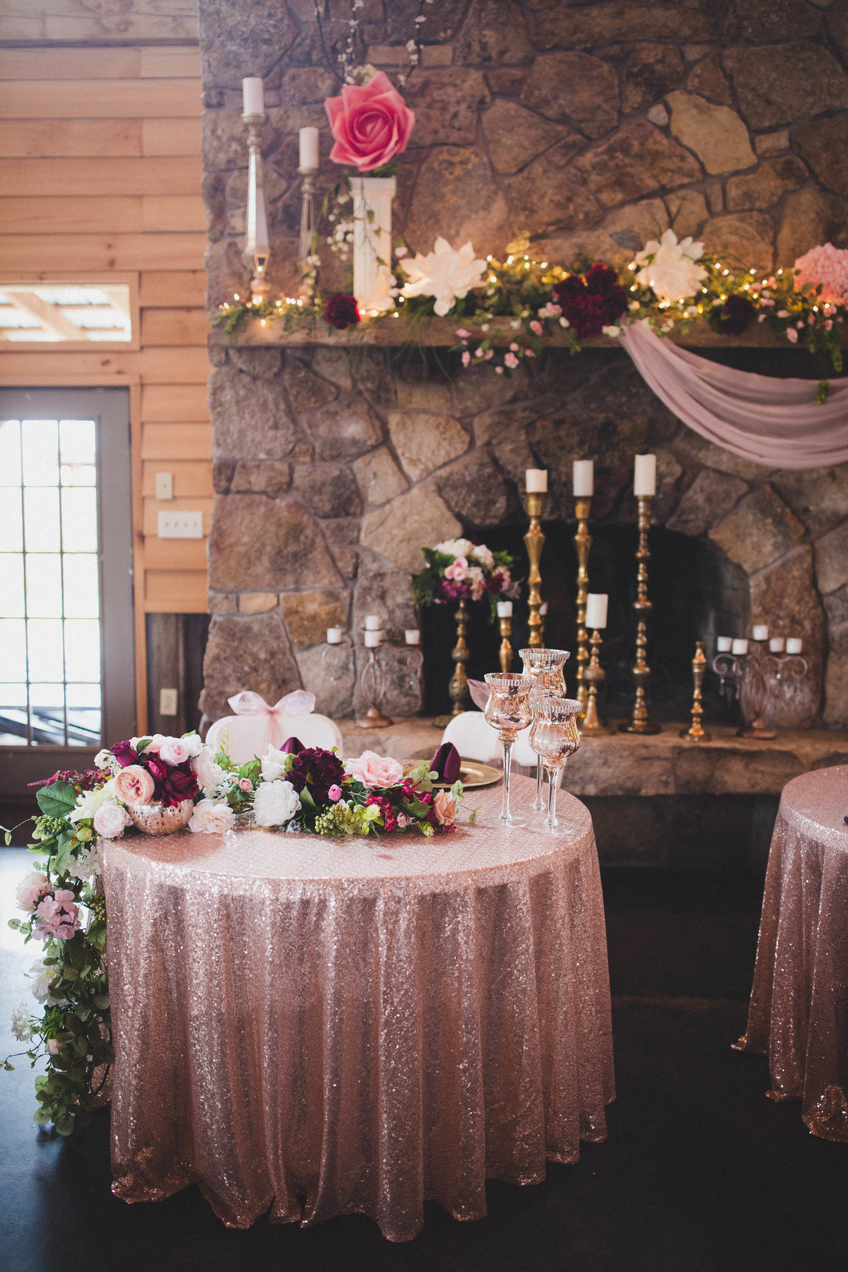 pink-gold-wedding-reception-barn