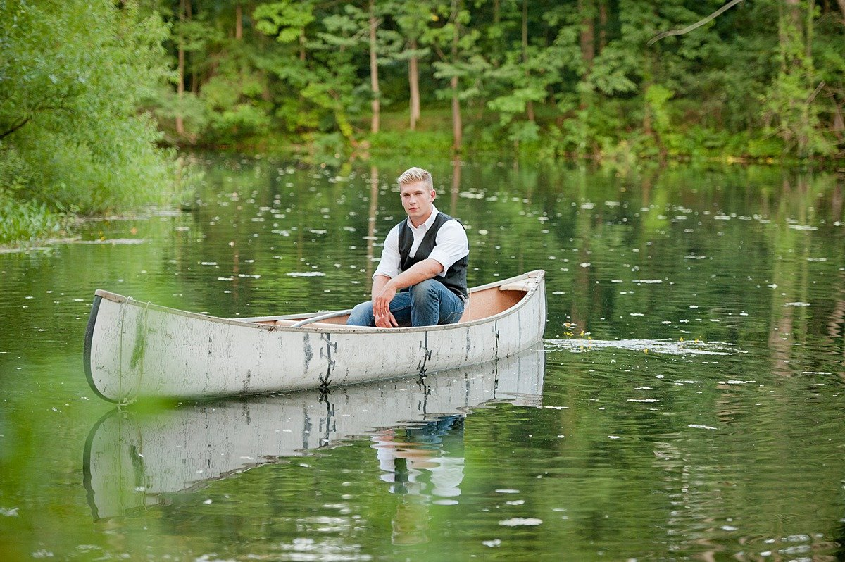 Laura Luft High School Senior Photography Elba NY  Albion Central High  School Boy Guy Farm Boat Pond Vest Session-04