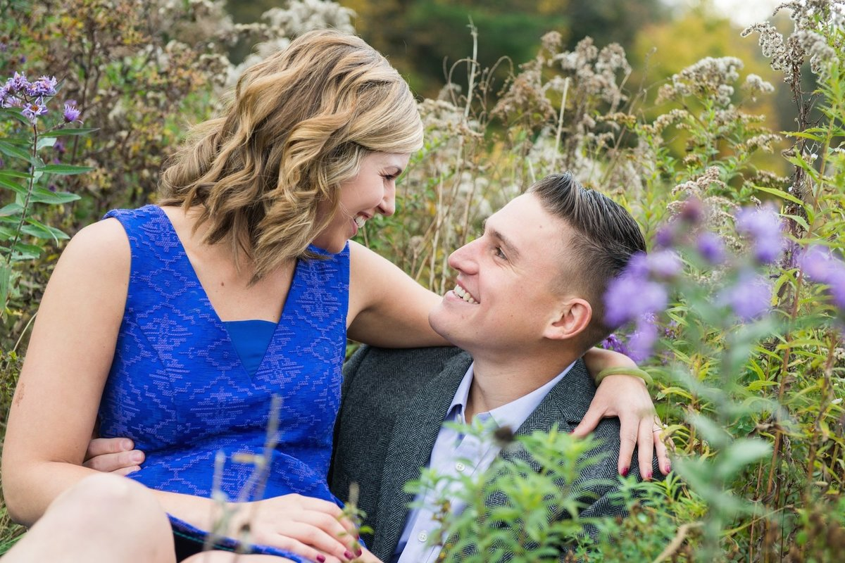 elegant and casual engagement photos in VT