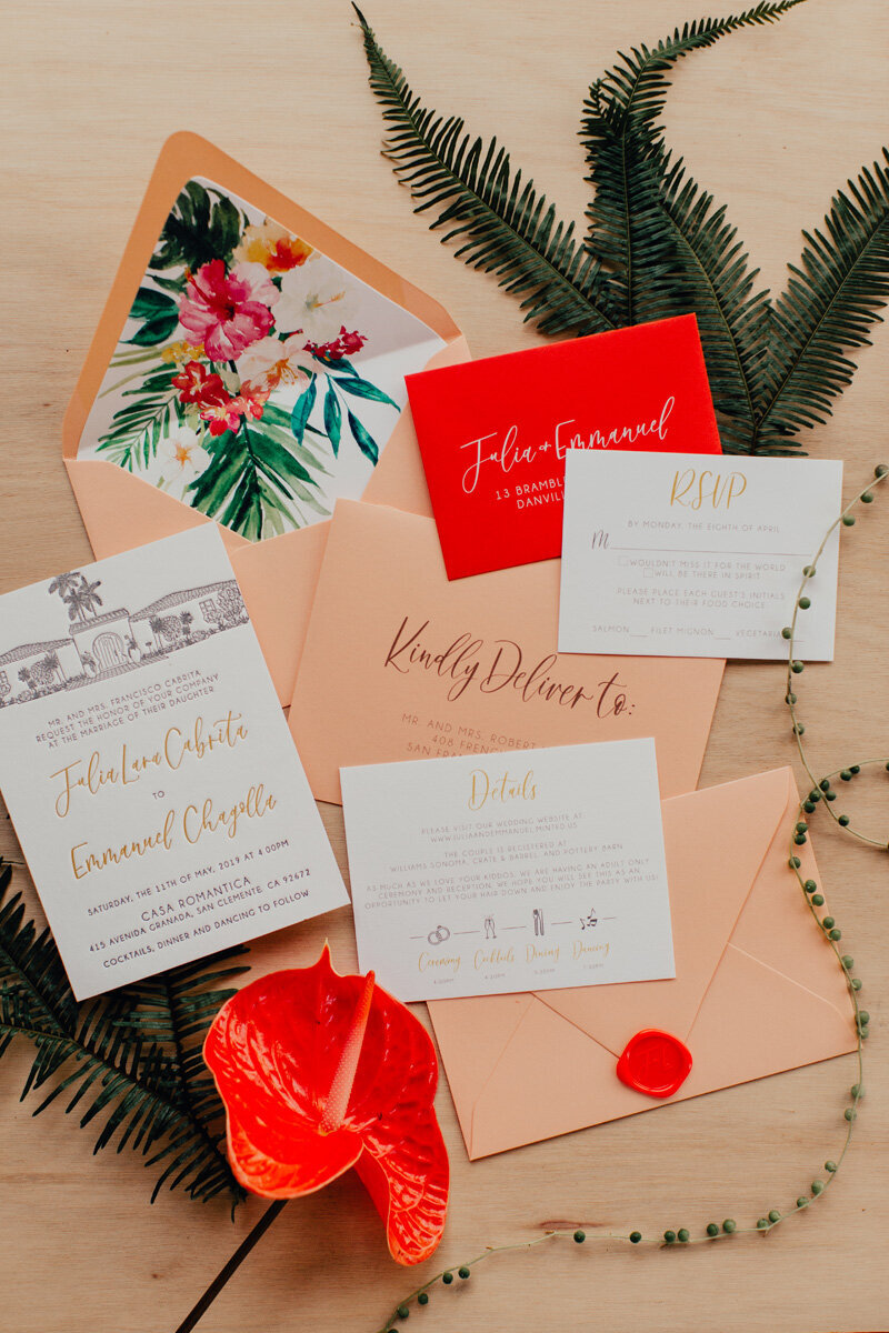 pirouettepaper.com | Wedding Stationery, Signage and Invitations | Pirouette Paper Company | Casa Romantica Wedding |  Ashley Paige Photography_ (17)