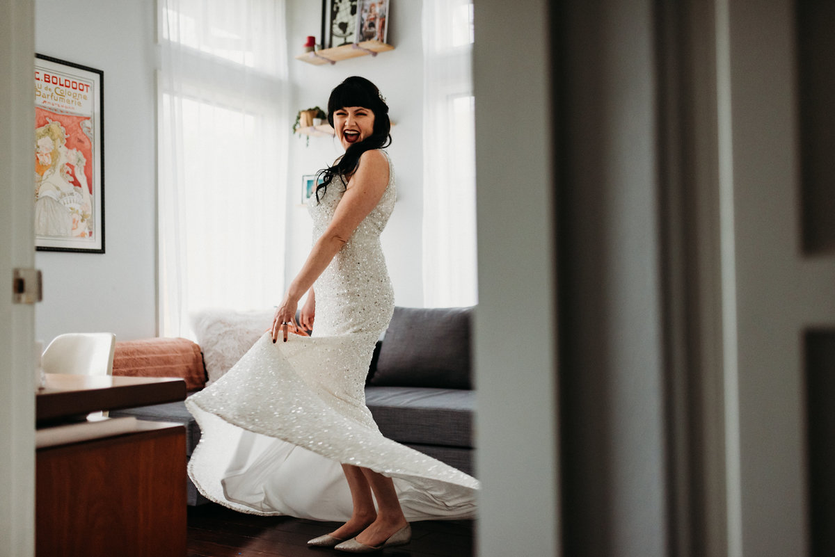 austin in home bridal session