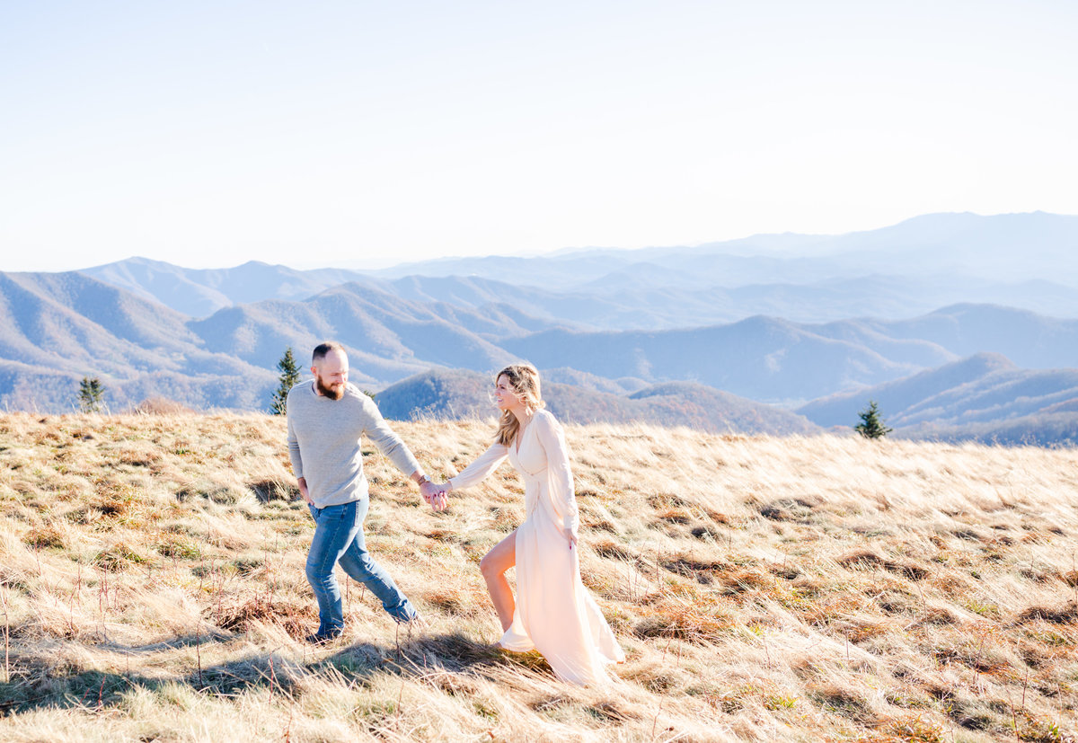Roan Mountain Couples Session Elizabeth Hill Photography Tennessee Wedding Photographer Knoxville Wedding Photographer-2