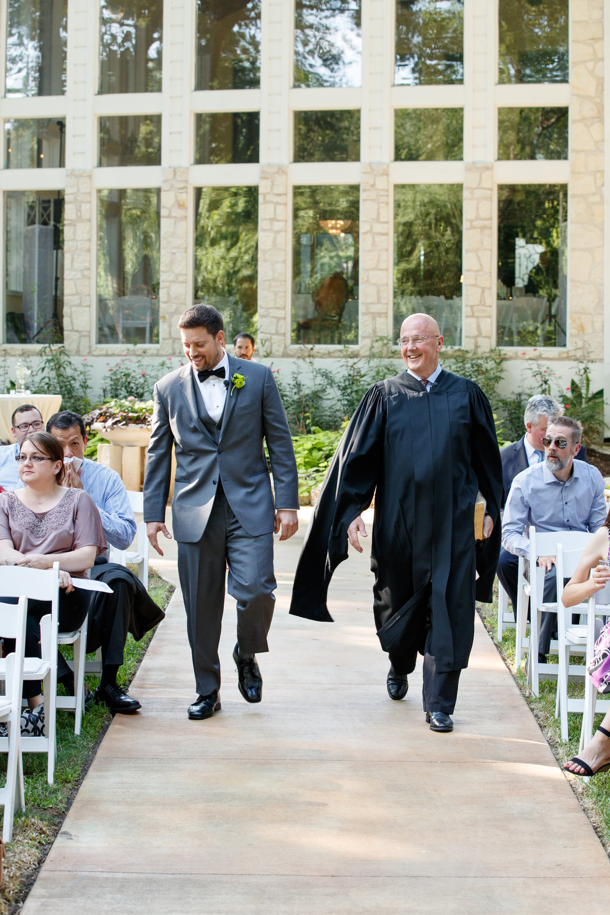 Austin wedding photographer casa blanca on brushy creek groom to ceremony