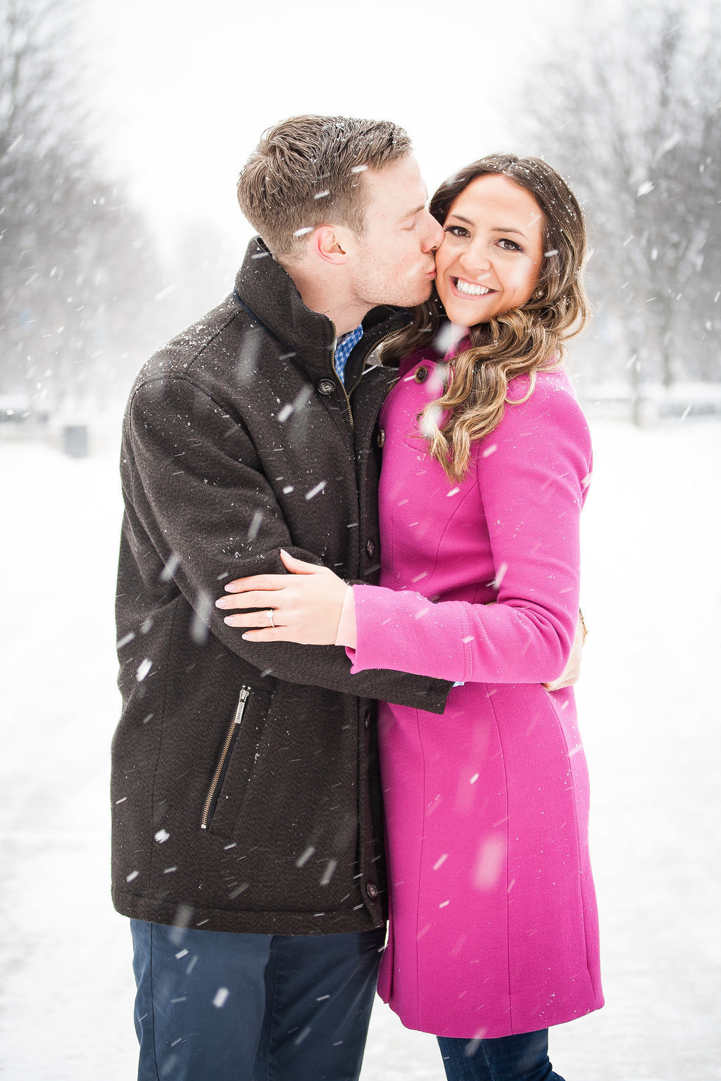 Millennium Park Chicago Illinois Winter Engagement Photographer Taylor Ingles 9