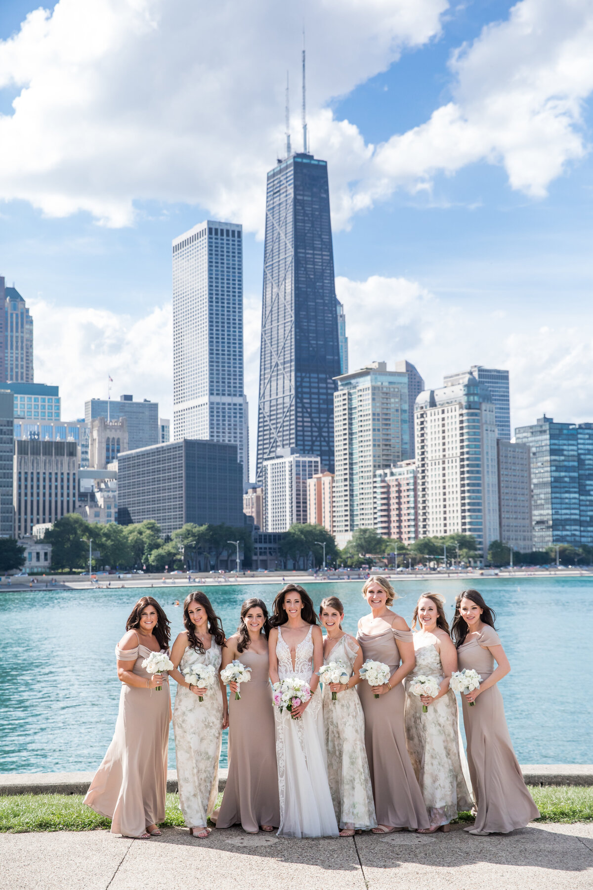 AE Bridesmaids by the lake