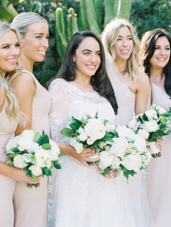 bridesmaids and bride photo