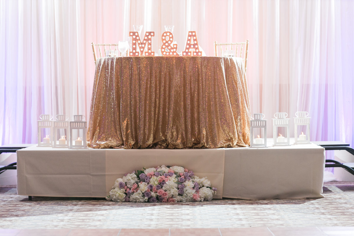 Sweetheart Table Wedding Setup