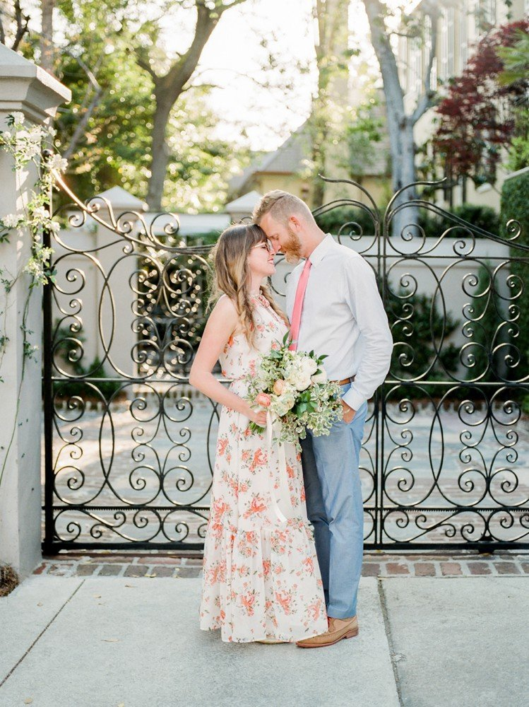 Rebekah Emily Photography Charleston Wedding Photographer Downtown Charleston Engagement Session_0004
