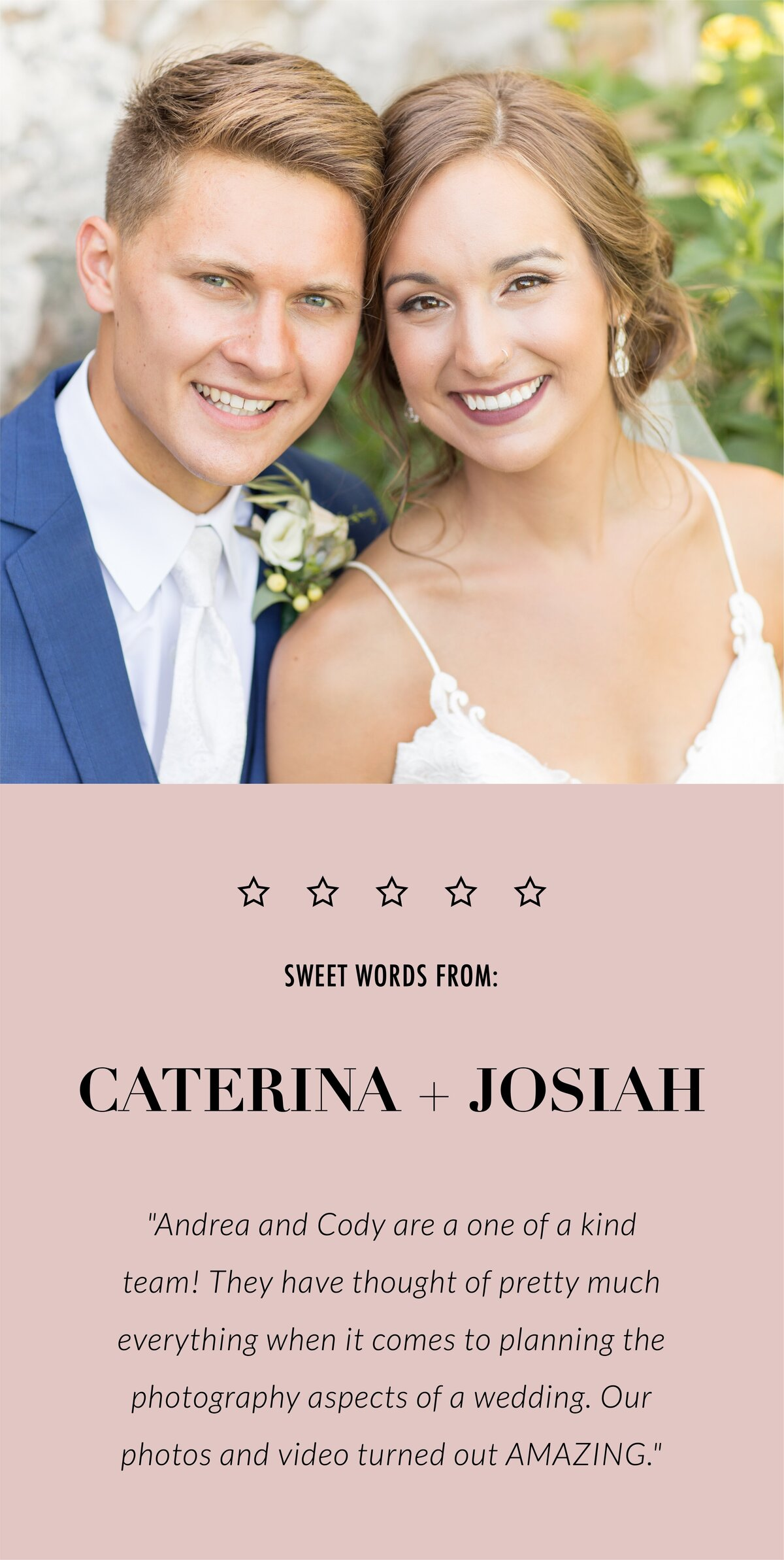 Caterina and Josiah review-mobile