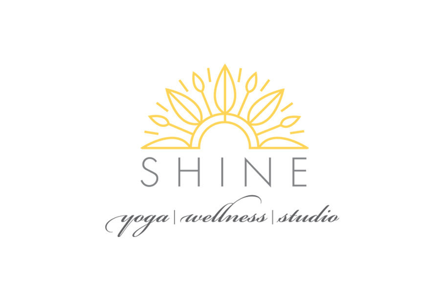 Shine Yoga Wellness logo designed by KB Design