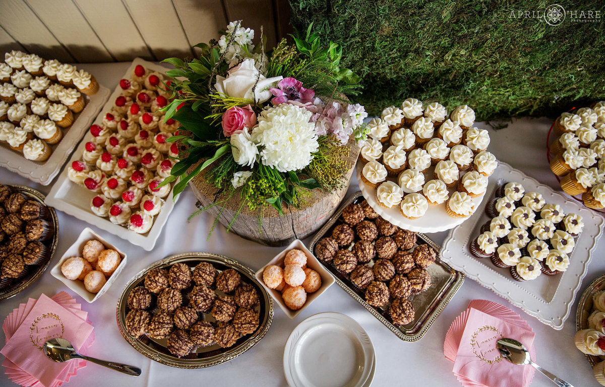 Dessert Table Detail Photo from a Steamboat Springs CO Wedding