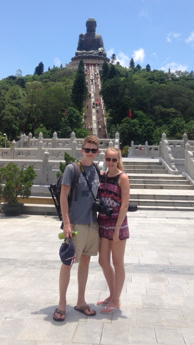 Harry Ward and Annie Melling in Hong Kong