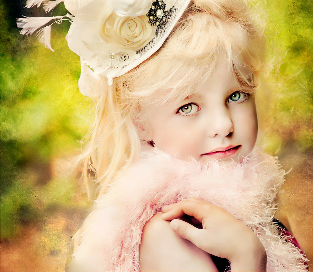 Fine Art children's photography-Mia in hat