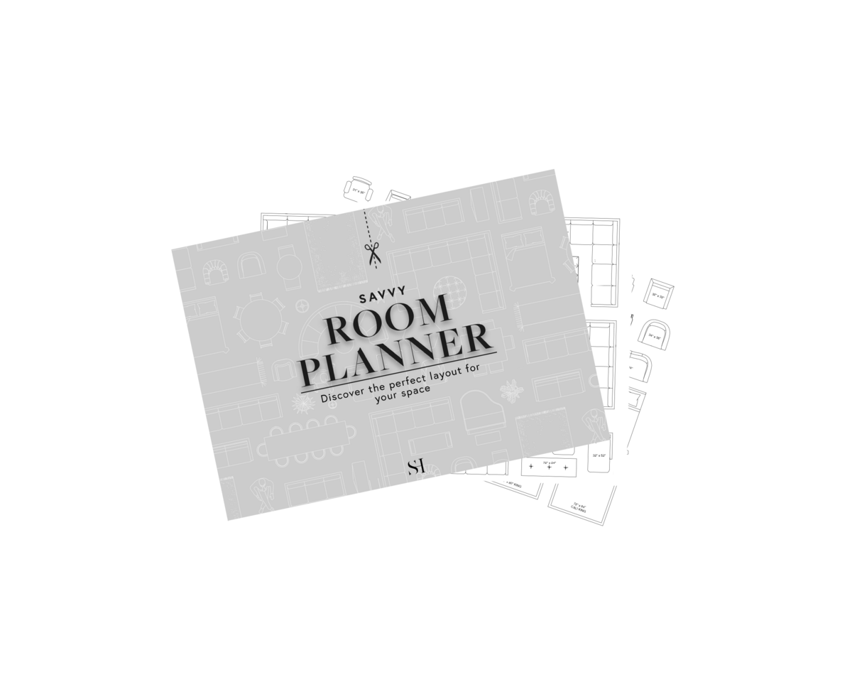 Savvy room planner- printable space planning kit on transparent