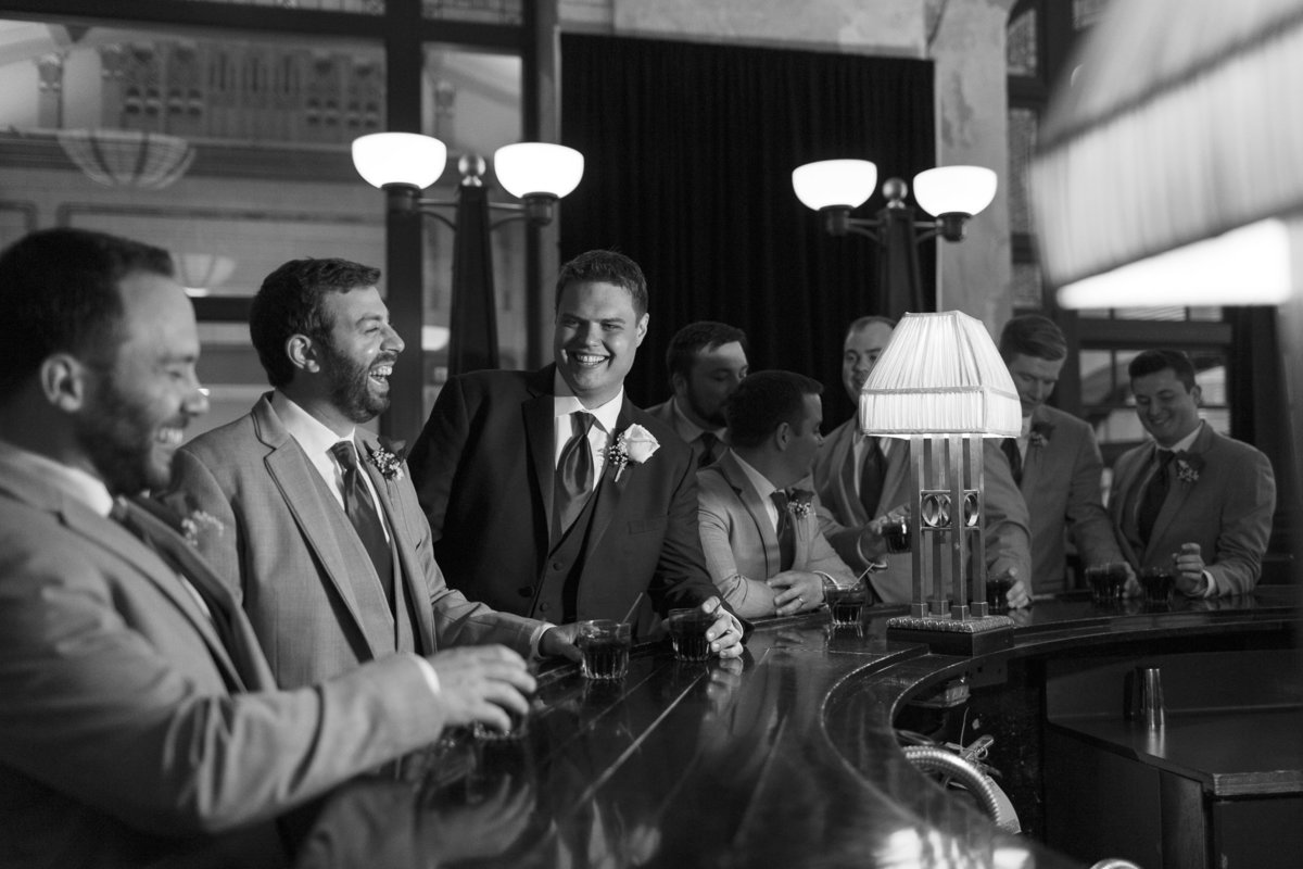 Groomsmen at the Bar at the Indianapolis Union Station