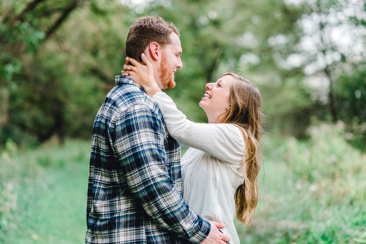 couple laughs together at chalco hills