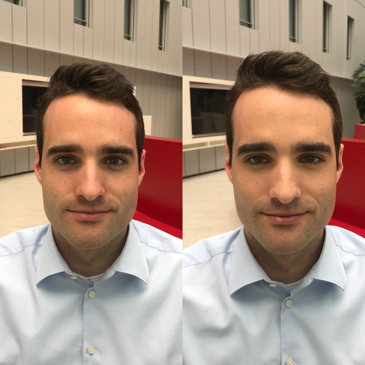 Before and After Male Makeup Natalie Setareh Moritz