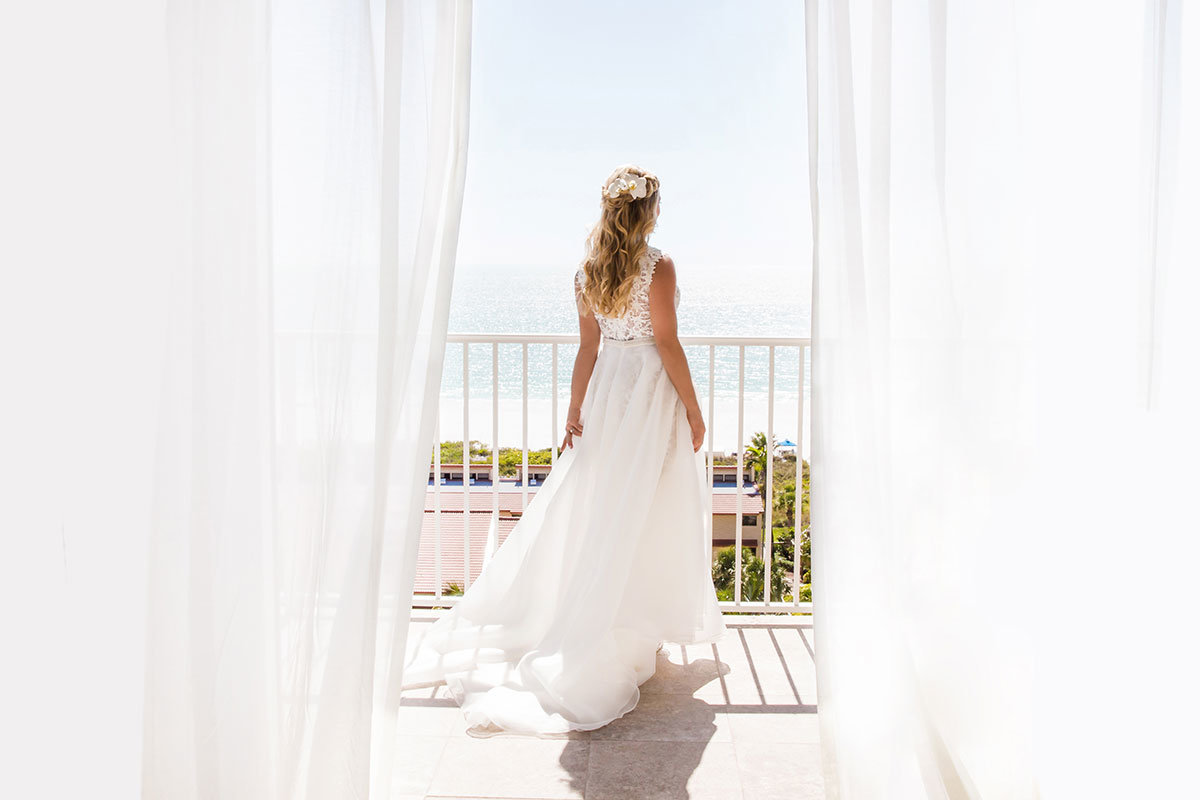 marco beach ocean resort balcony wedding photo