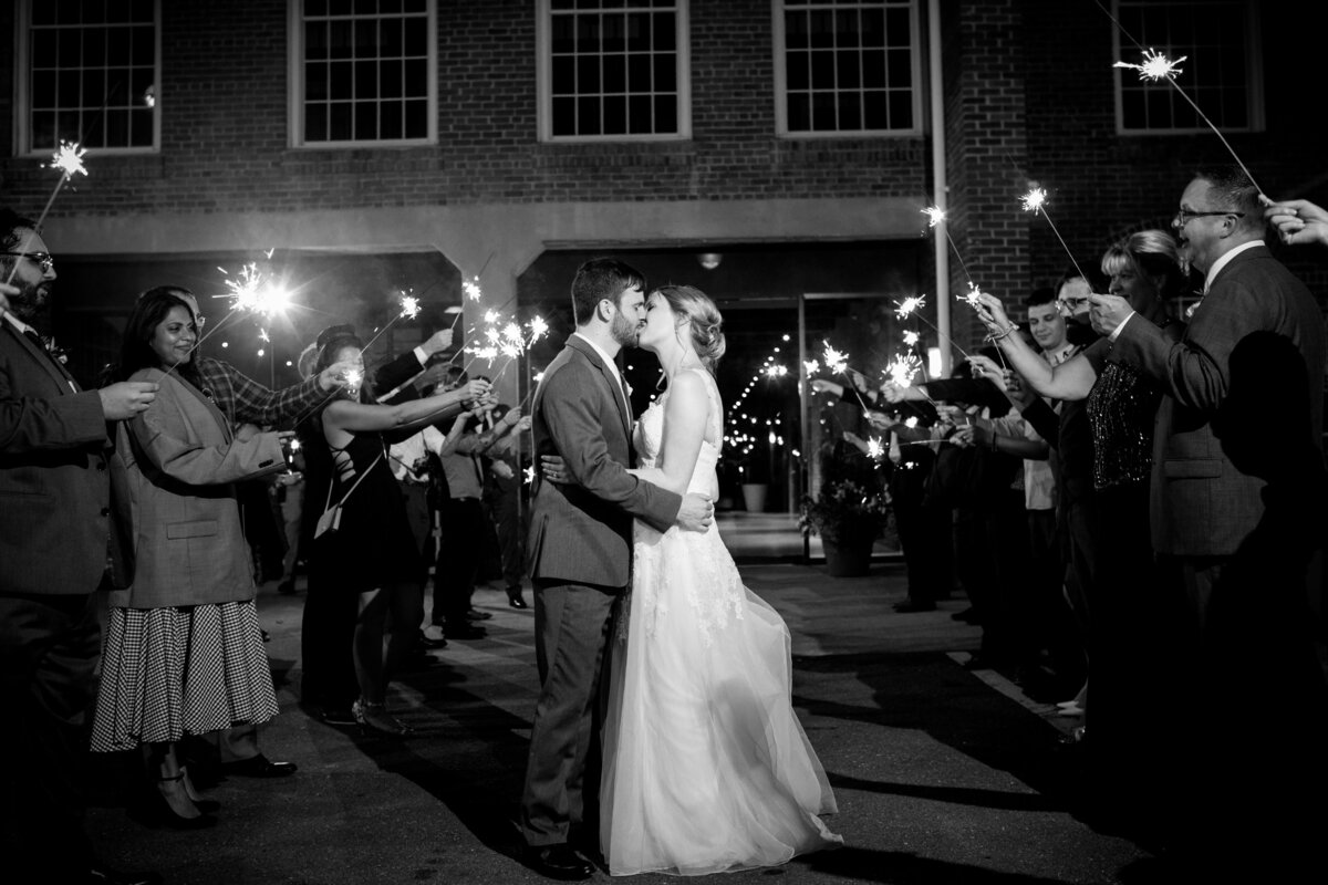 Sparkler wedding exit at The Cotton Room