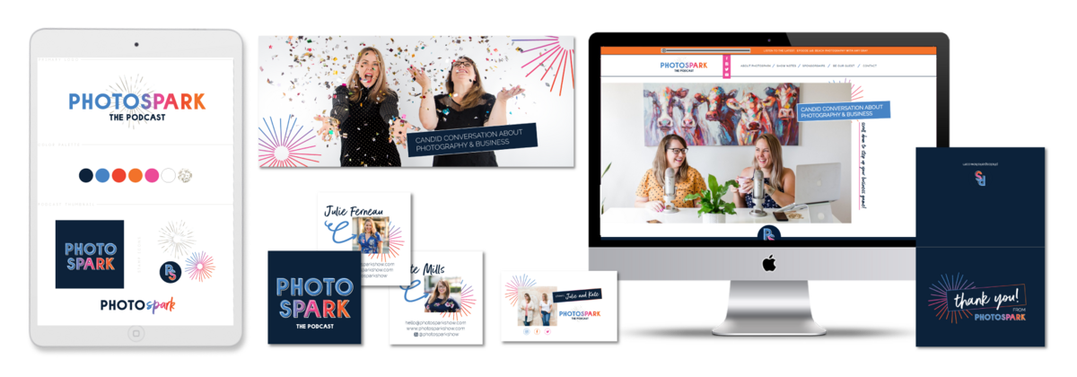 Brand and Showit Website Design for Photospark