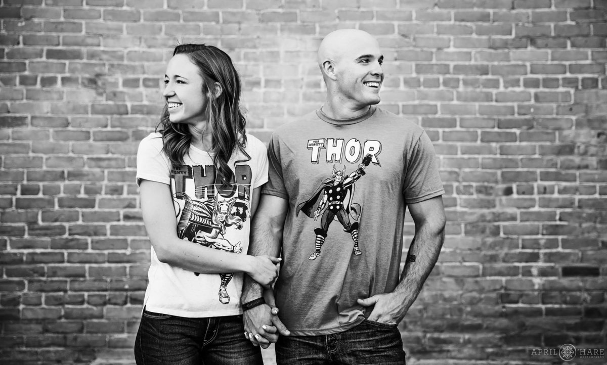 Comic Book Fans Engagement Session in Fort Collins Colorado
