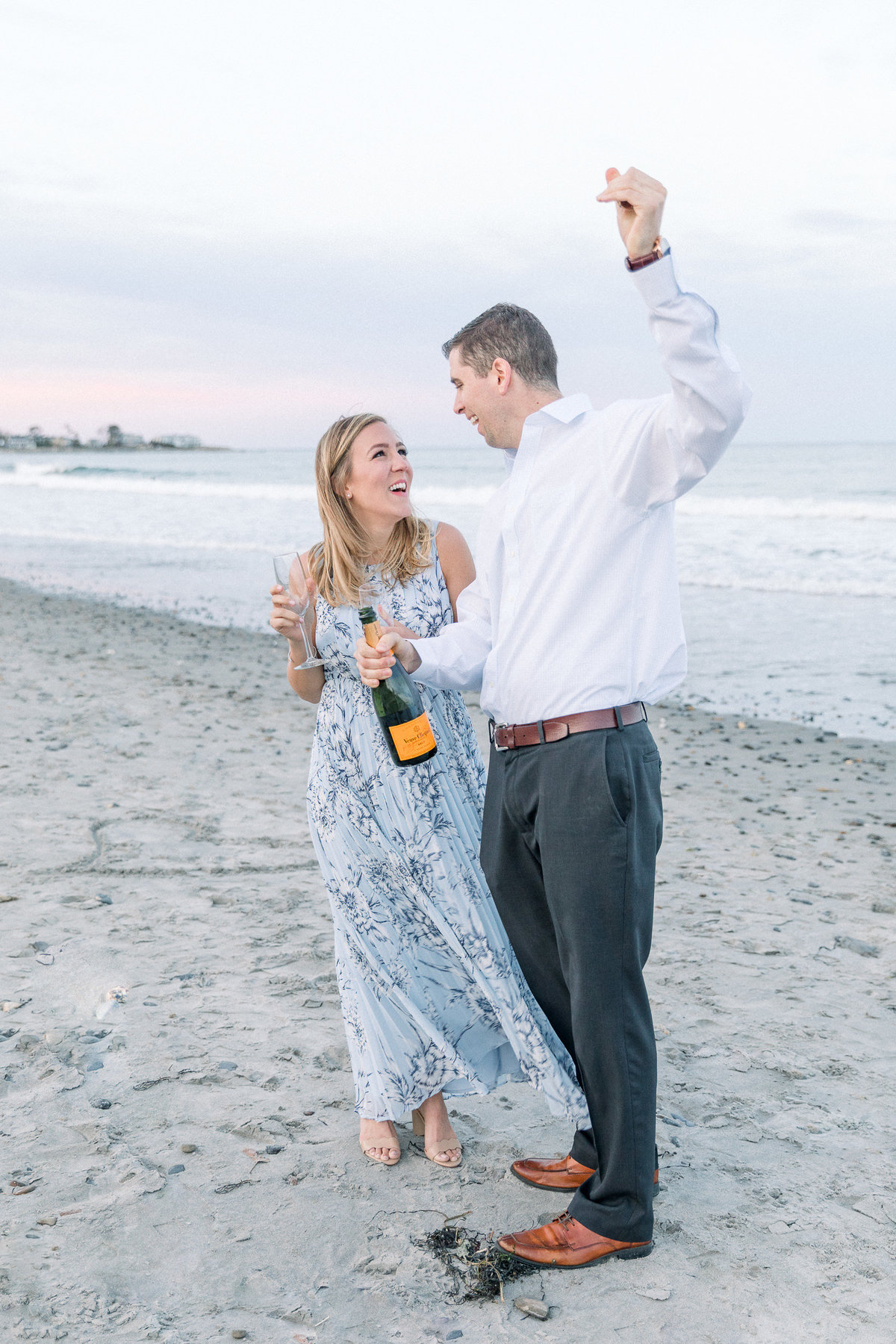 Coastal Portsmouth and Rye Beach NH Engagement Session By Halie-0973