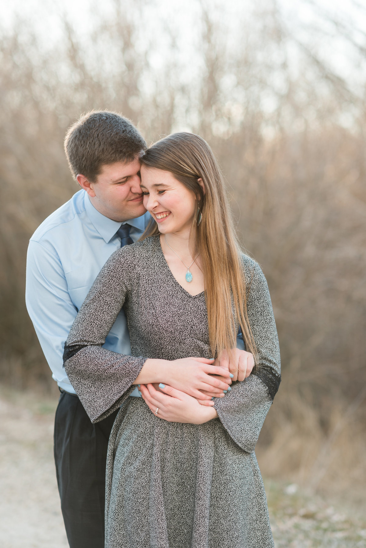20190302 - Jannae and Forest Engagement Session 078-Edit - A Winter Reid Merrill Park Engagement Session