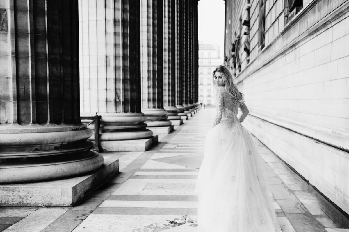 Katie Mitchell, Monique Lhuillier Bridal Paris France Wedding Trine Juel Hair and makeup 13