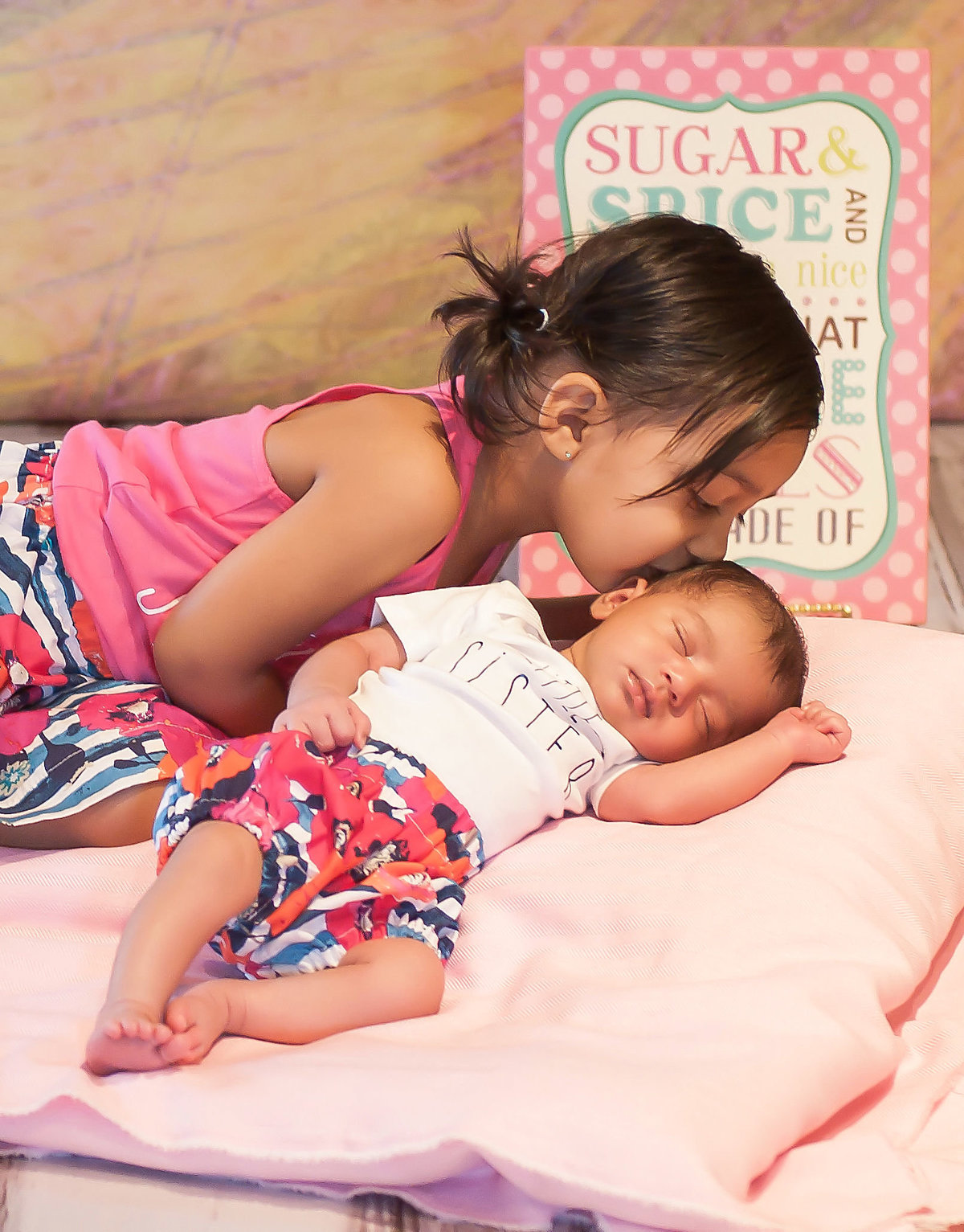 Sisten Siblings Newborn Photoshoot in Orange County, California | One Shot Beyond Photography