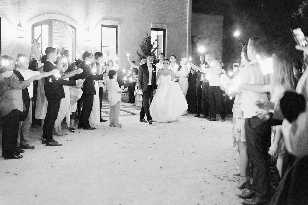 bride and groom sparkler exit bradford raleigh nc