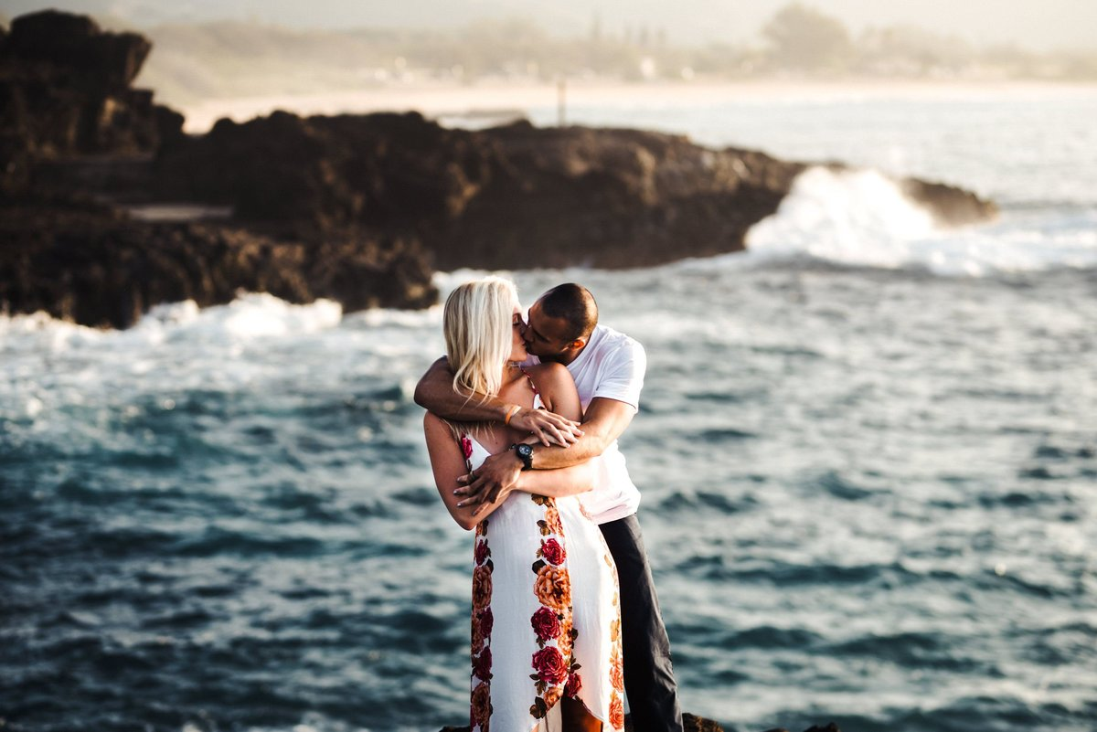 Eternity Beach Honolulu Hawaii Destination Engagement Session - 22