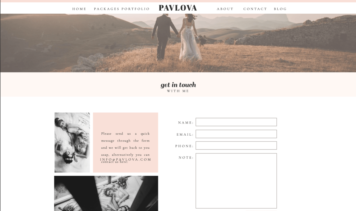 Pavlova Showit Website Template desktop_5