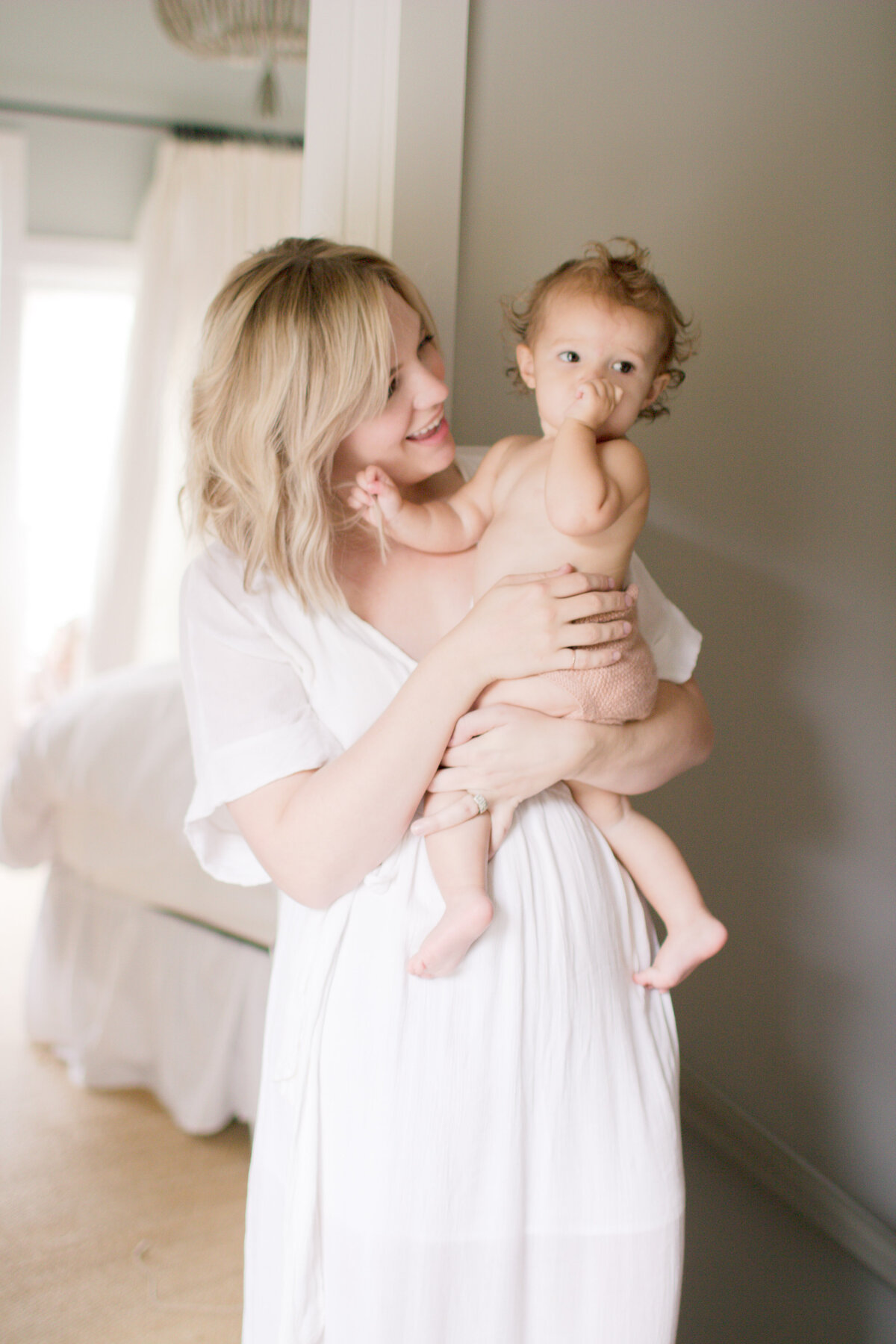 Light Airy Natural Light Baby Photographer CA