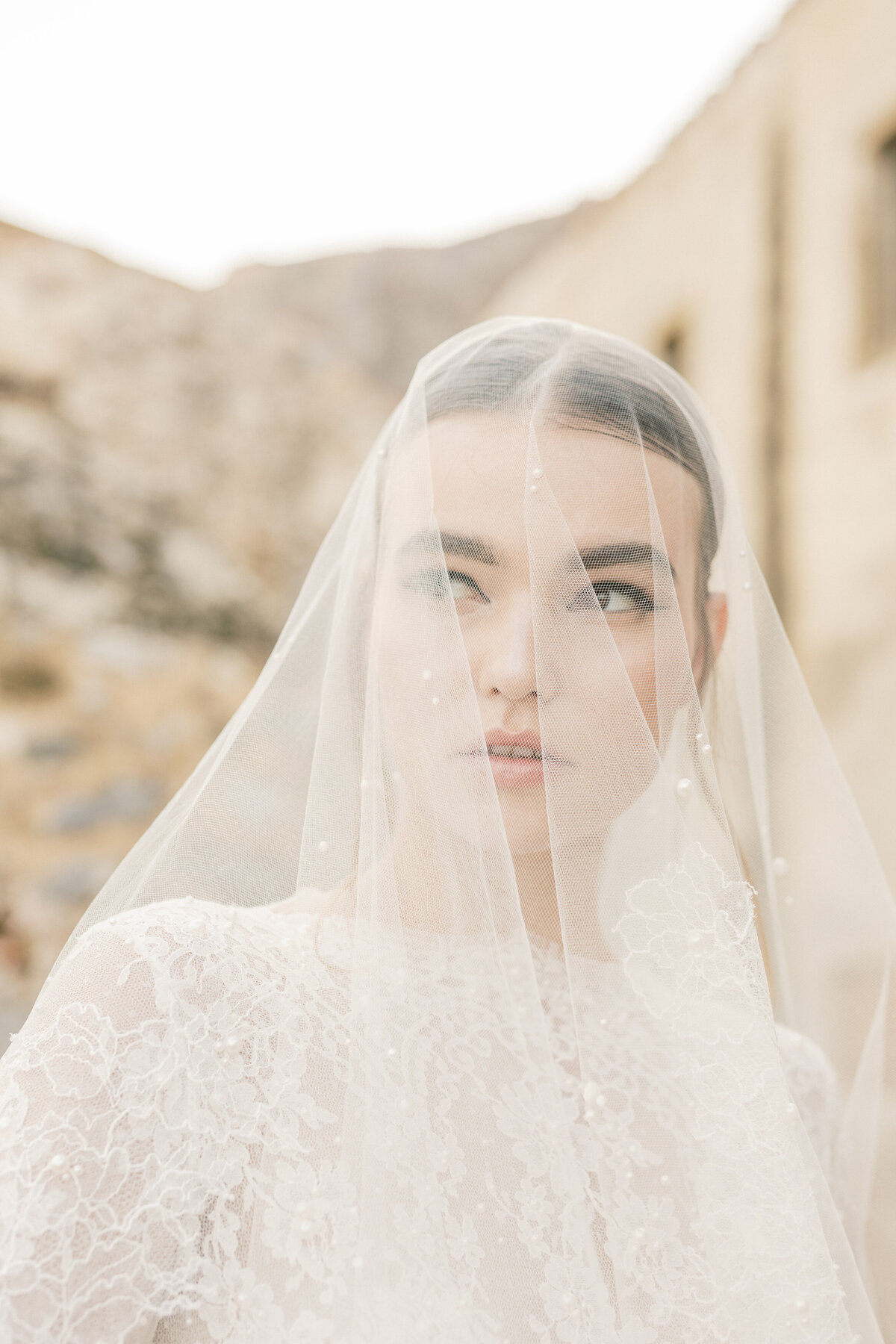 Bridal Portrait Editorial Photoshoot in Greece 6