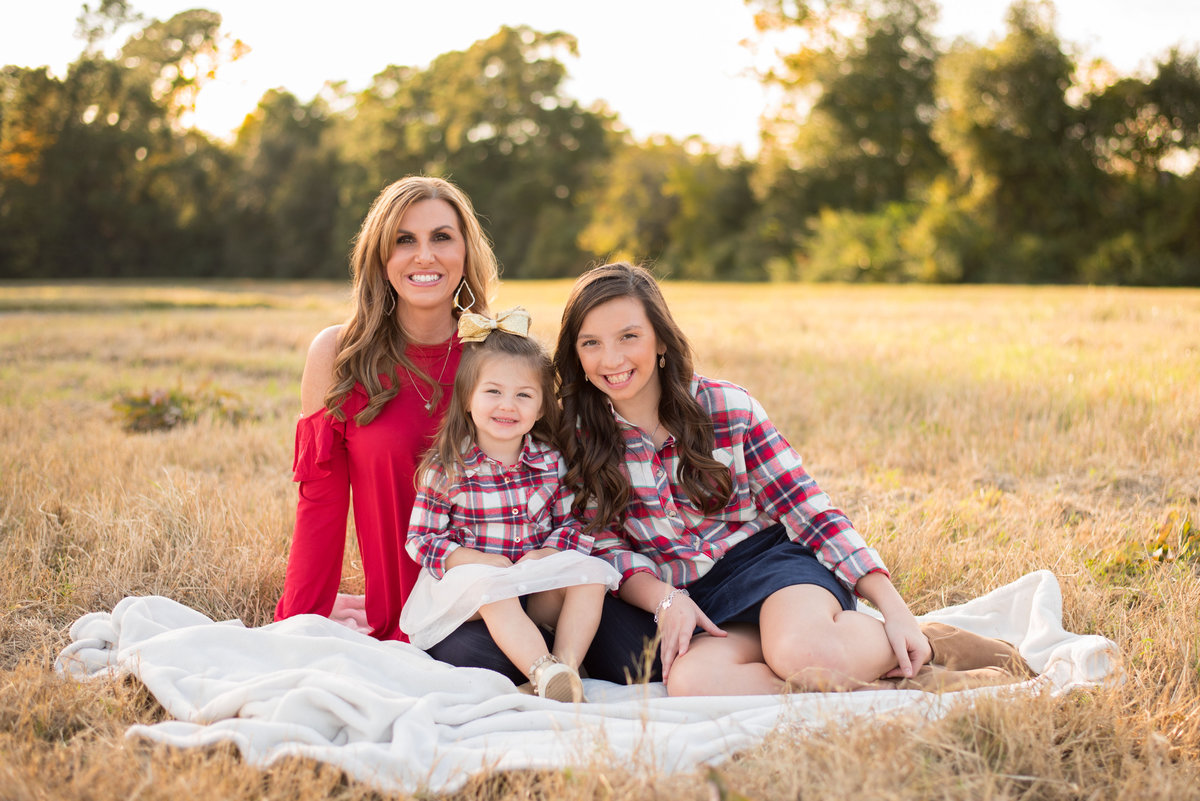 Mother and daughters sunset session