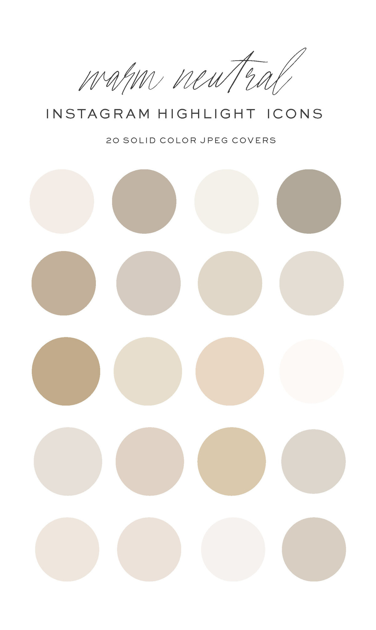 Warm Tan Neutral Instagram Highlight Covers