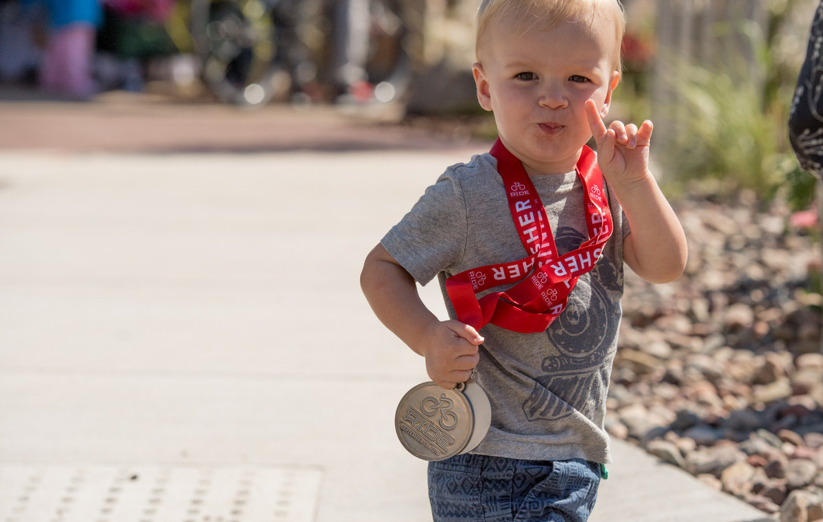 Kid with medal 2016
