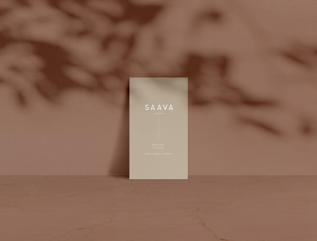 Saava business card beige