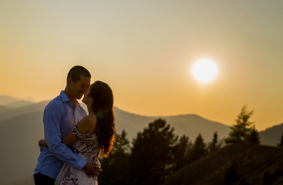 Sunset engagement session at Manning Park.