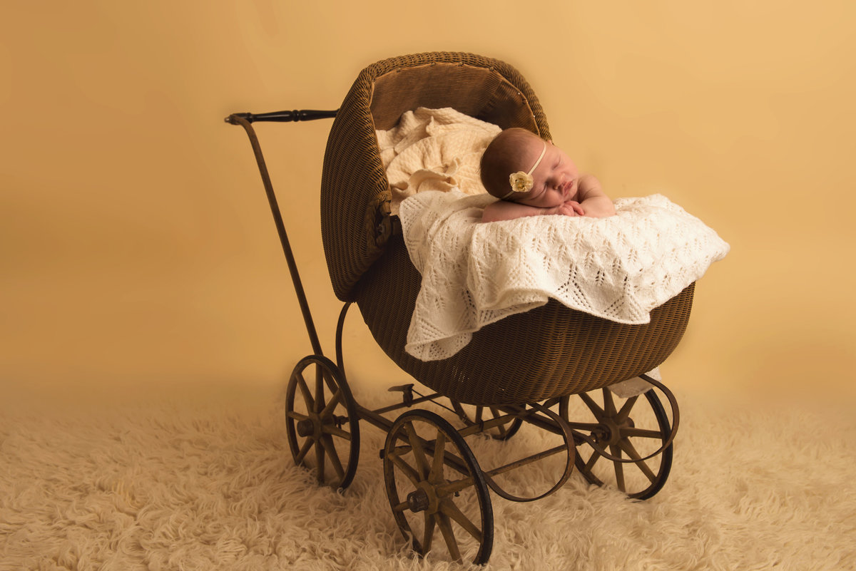 A family heirloom can bring a sense of nostalgia to your child's newborn pictures