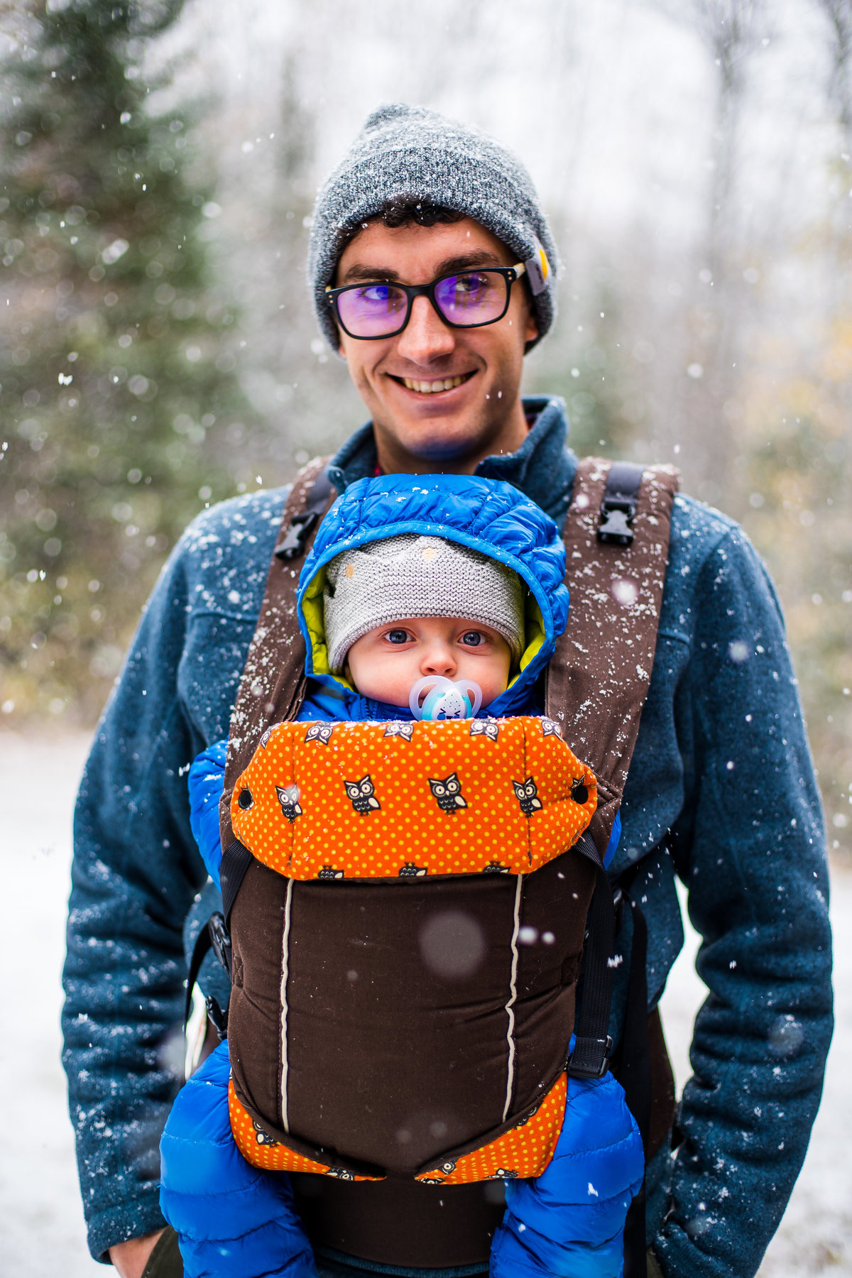Winter Portrait, father and son