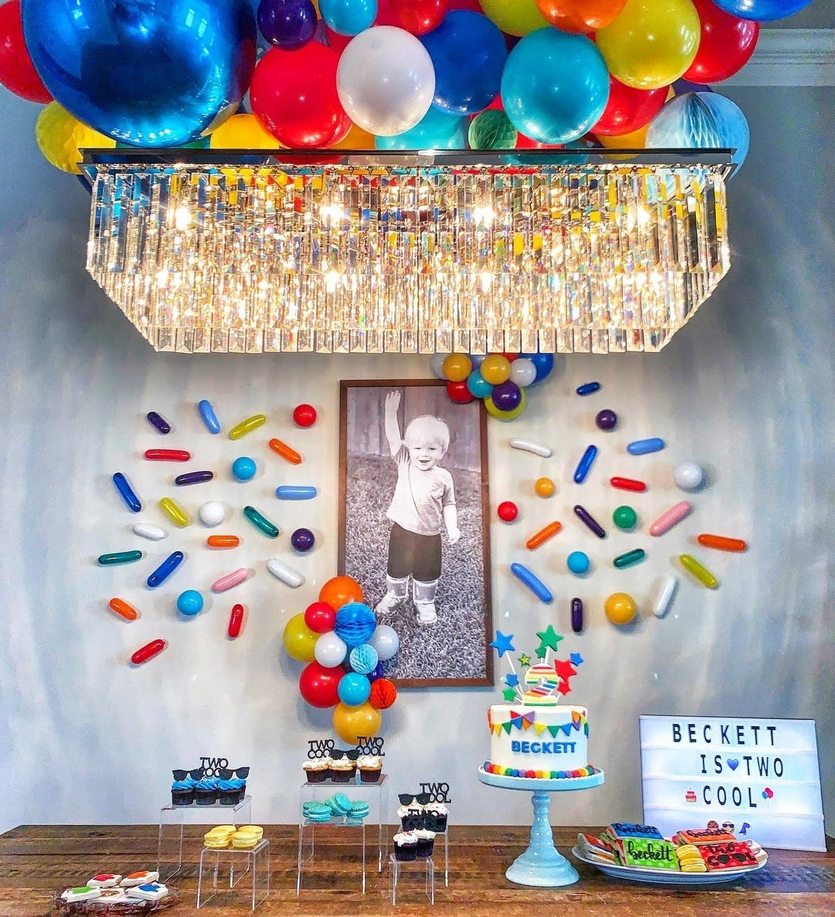 Sprinkle balloons for kids party
