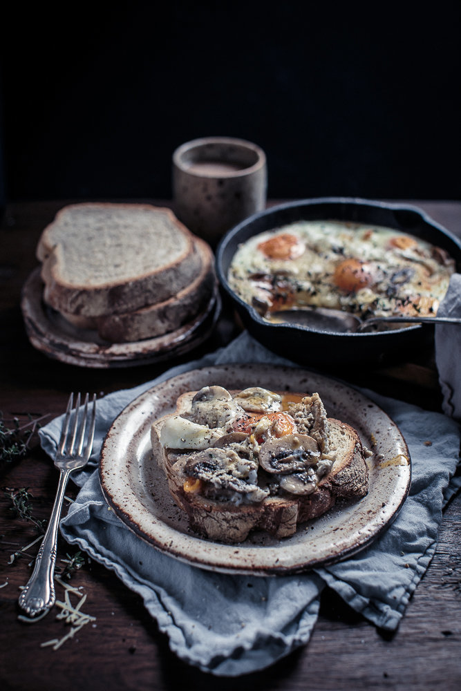 Creamy Mushroom and Black Truffle Baked Eggs | Anisa Sabet | The Macadames-16-1
