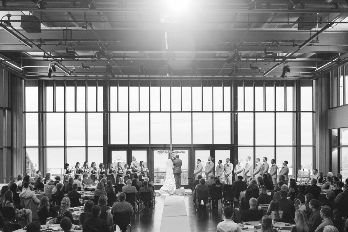 seattle wedding photographer rosewood community center mukilteo ceremony
