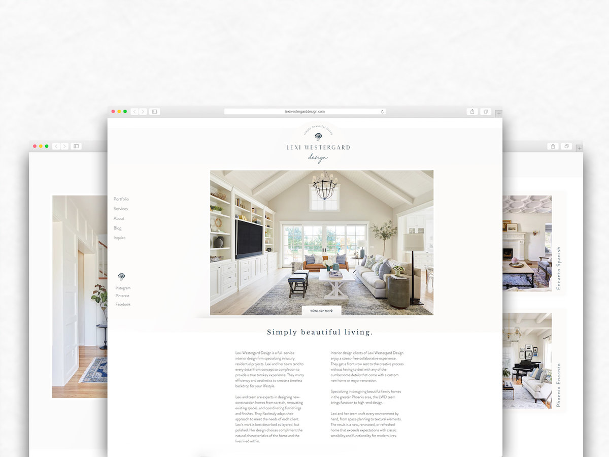 Featured Portfolio - Lexi Westergard Design | Interior Design Branding, Web Design and Instagram Management | Phoenix