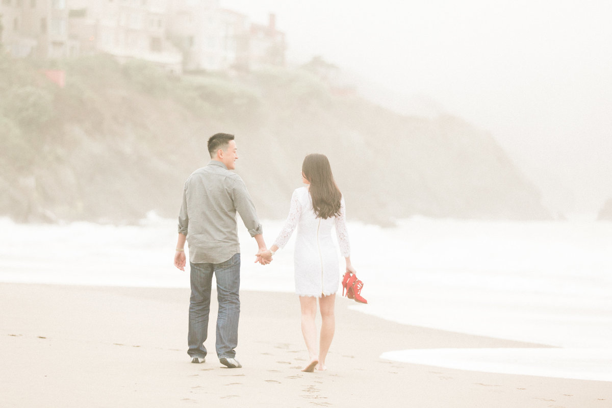 Baker Beach Fine Art Engagement Photos SF