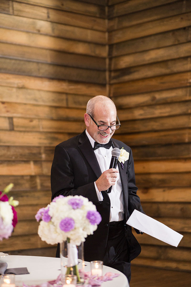 father of bride speech at the farm at 95 in raleigh north carolina